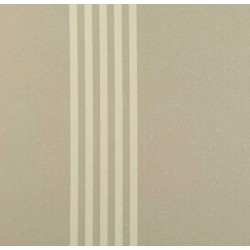 Oxford Stripe Flax Beige Wallpaper