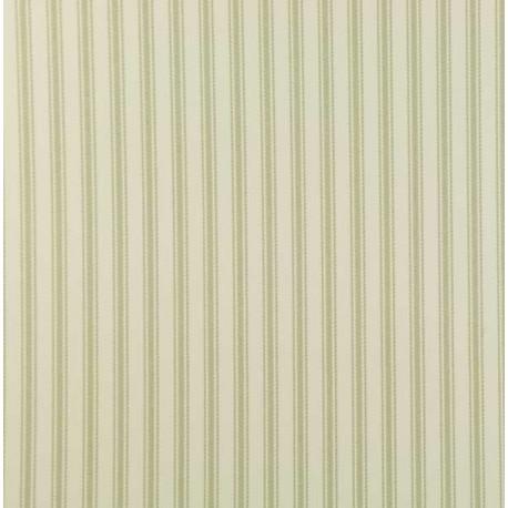 Ticking 01 Sage Green Stripe Wallpaper