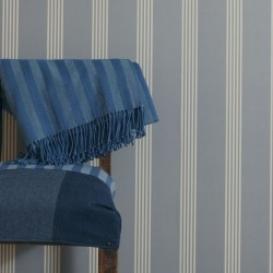 Oxford Stripe Indigo Blue Wallpaper