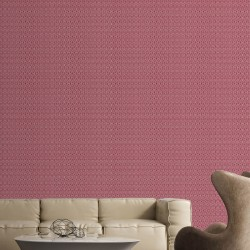 Honeys Ruby Red & SIlver Wallpaper