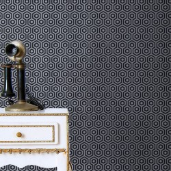 Honeys Silver & Black Wallpaper
