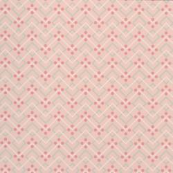 Diagonal Dot Salmon Pink Wallpaper