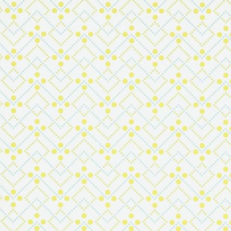 Diagonal Dot Lime Green Wallpaper