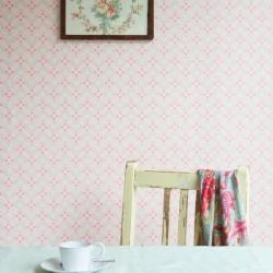 Diagonal Dot Pink Wallpaper