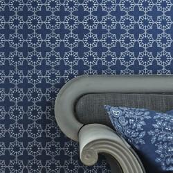 Anchor Tile Marine Blue Wallpaper