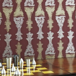 Chess Burgundy Wallpaper