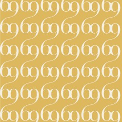 Bodoni No.6B Mustard Yellow Wallpaper