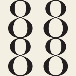 Bodoni No8A Black and White