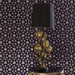 Funky Flora Regal Purple Wallpaper