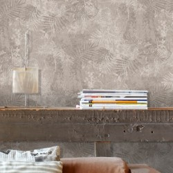 Kerala Taupe Grey Wallpaper