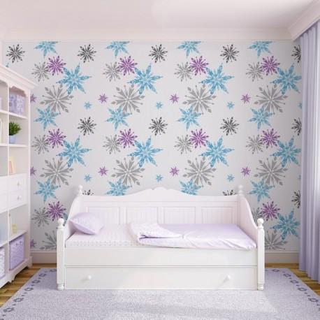 disney snowflake wallpaper frozen kids room wallpaper rh wallpaperking co uk