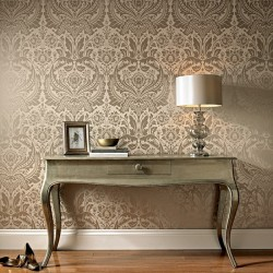 Desire Taupe Cream Wallpaper
