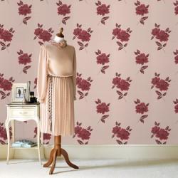 Lulu Red and Cream Wallpaper