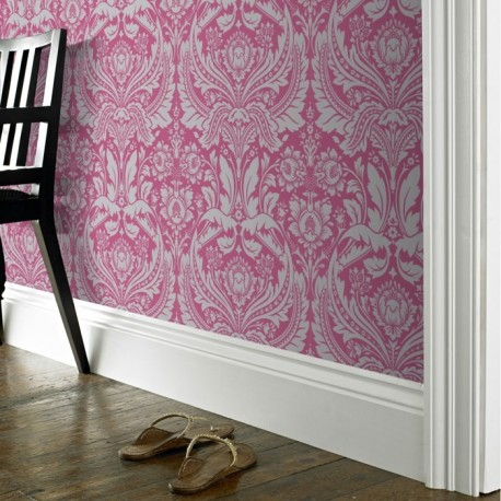 Desire Pink And Grey Wallpaper Pink Grey Damask Wallpaper