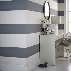Glitz Grey Cream Stripes