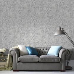 Zebra Skin White and Grey Wallpaper