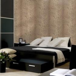 Leopard Skin Beige Wallpaper