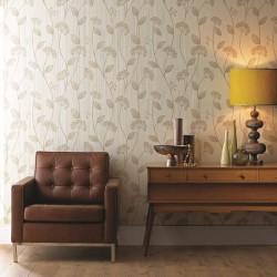 Claire Beige Wallpaper