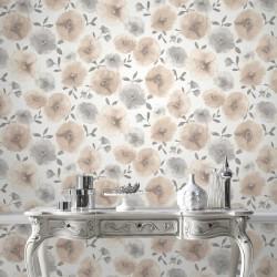 Poppies Natural Wallpaper