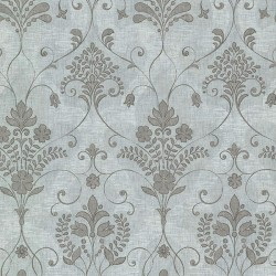 Andalusia Damask Silver and Blue