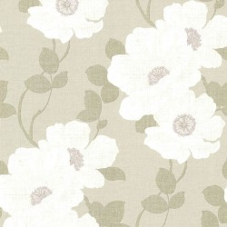 Lourdes Floral Taupe and Mauve