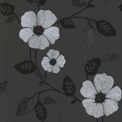 Ink Floral Black and White