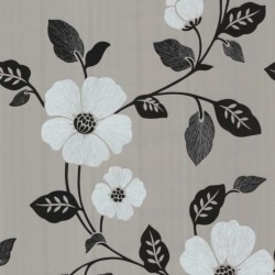Ink Floral Silver