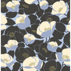 Field Poppies Navy & Blue Wallpaper