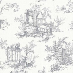 Antiquity Arch Toile Navy and White