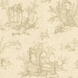 Antiquity Arch Toile Gold and Beige