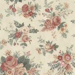 Rosa Maxwell Floral Beige and Red