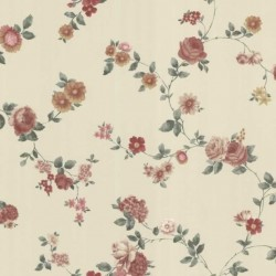 Rosetta Maxwell Floral Trail Beige and Red