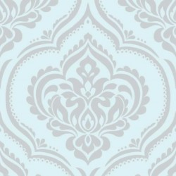 Ornamental Damask Light Teal