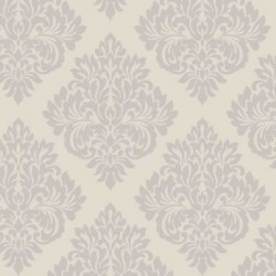 Damask Putty and Silver