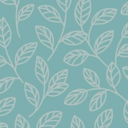 Leaf Teal and Silver