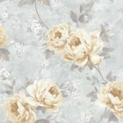 Pandora Floral Blue and Cream