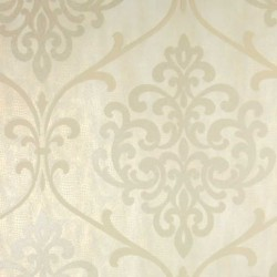Ambrosia Glitter Damask Cream Gold