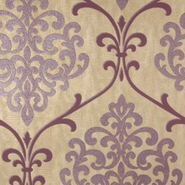 Ambrosia Glitter Damask Camel and Mauve