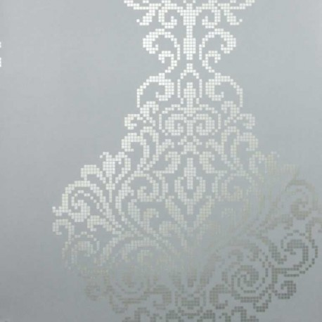 Lux Textured Damask Blue