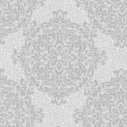 Gabrielle Lace Feature Silver and White