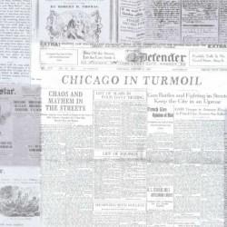 Cars Gazette Newspaper Black and White