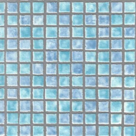 Buy Mosaic Tile Sidewall Aqua Fd Fd22897 Teal Wallpaper Direct