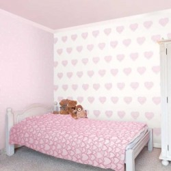 Hearts Sidewall Pink