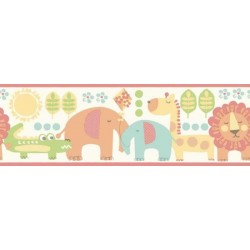 Jungle Friends Border Multi