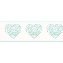 Hearts Border Blue