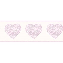 Hearts Border Purple