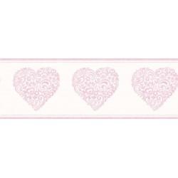 Hearts Border Pink
