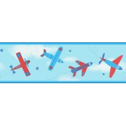 Planes Border Blue and Red