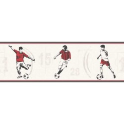 Football Border Red
