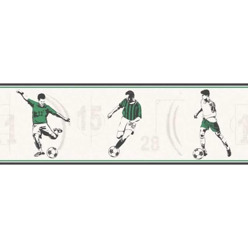 Buy Football Green Border Fd Dlb50091 Stone Kids Wallpaper